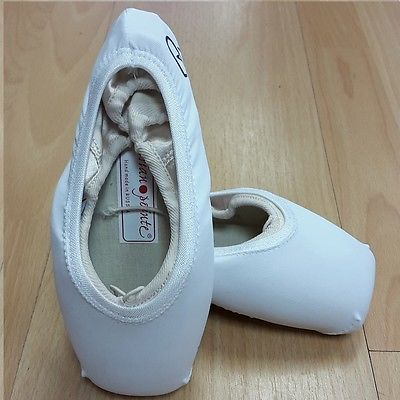 White pointe shoe covers