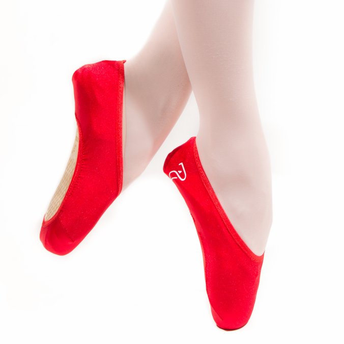 Red gloss pointe shoe covers