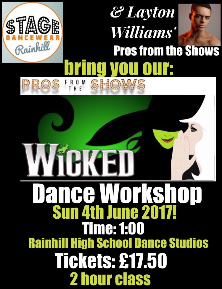 Wiked dance workshop Pros from the Shows tickets