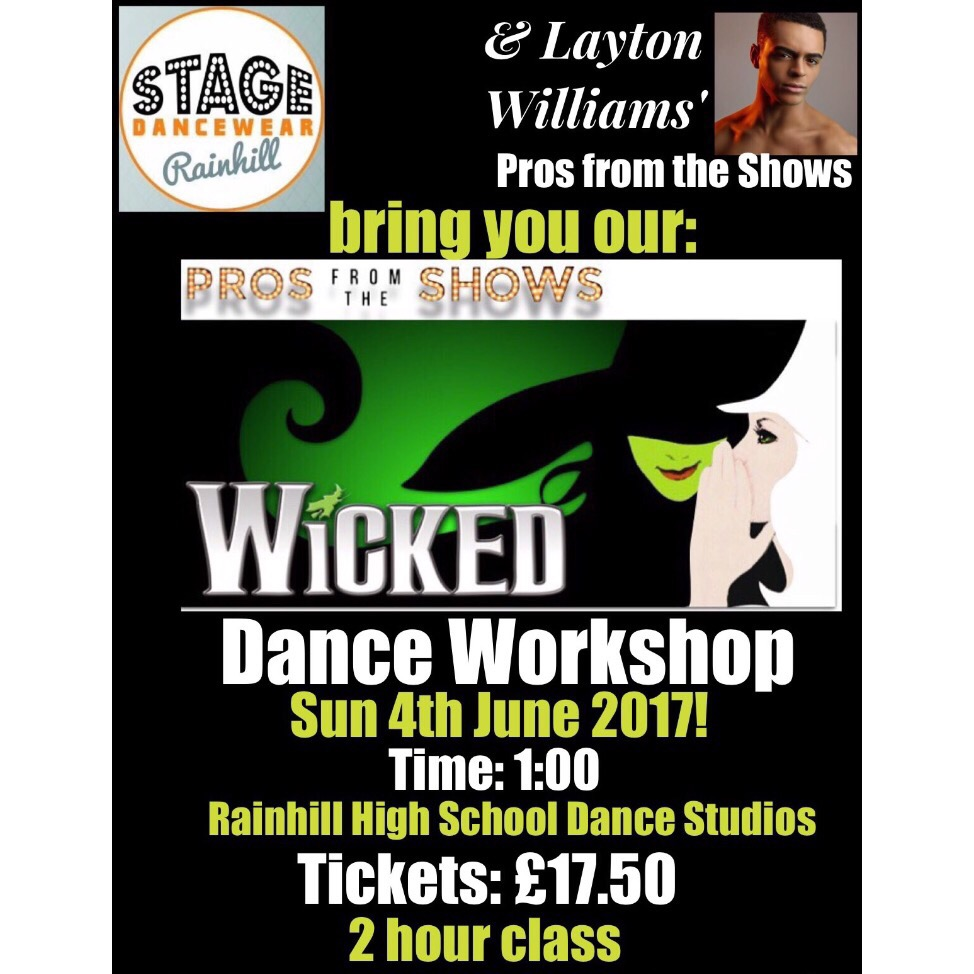 Book tickets for Wicked dance masterclass