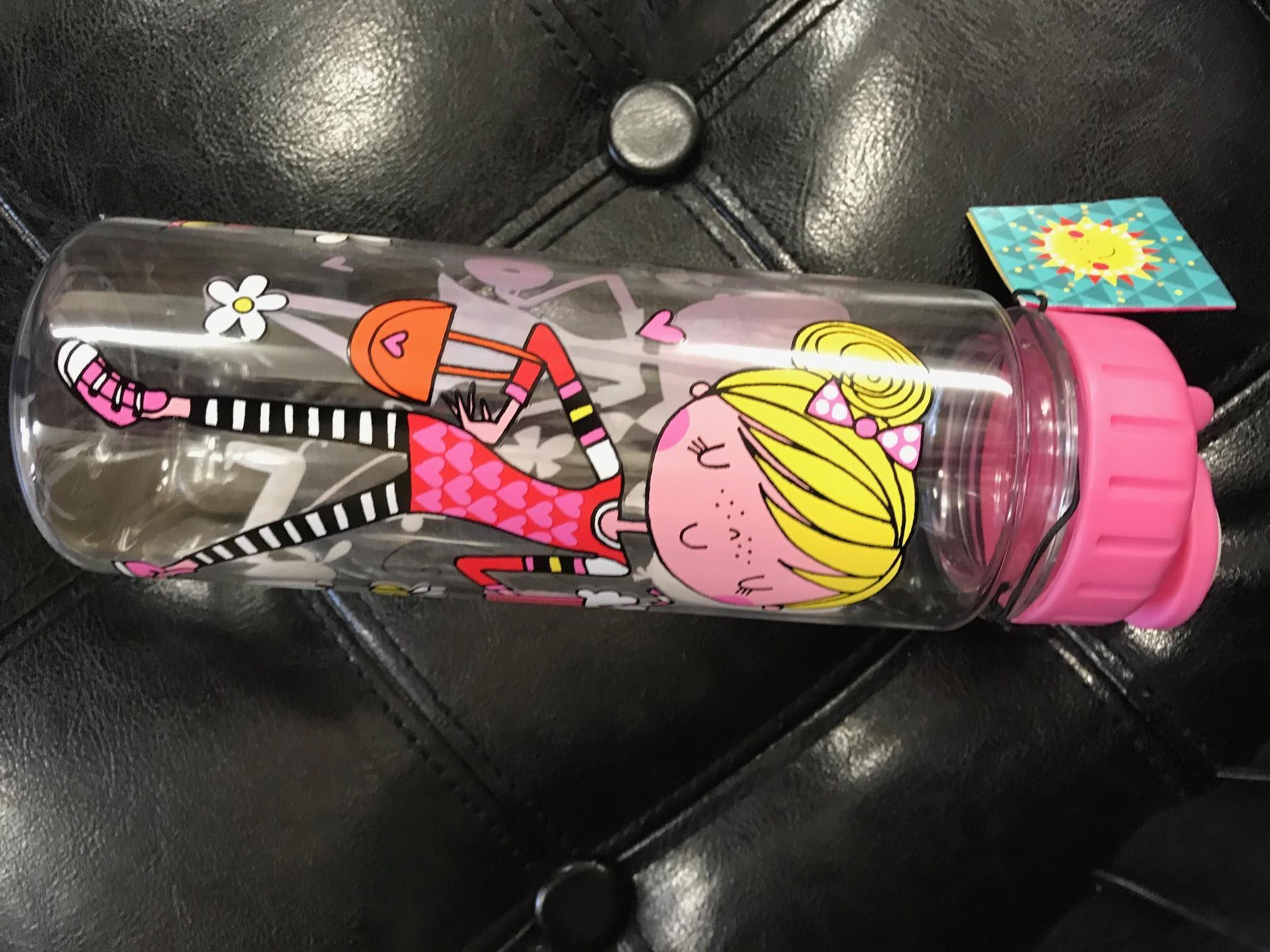 fashion girl water bottle by rachel ellen designs