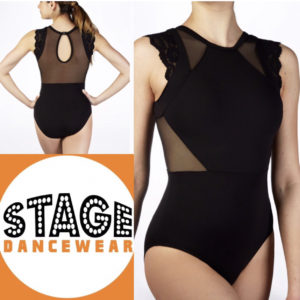 So Danca Microfibre Leotard With Mesh Lycra® And Lace Sleeve