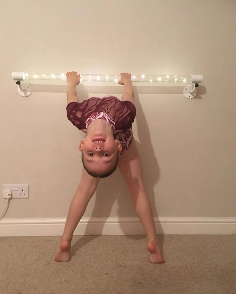 light up wall ballet barre