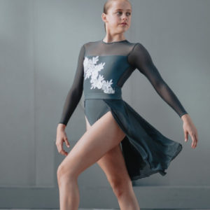 EMMIE LEO GREY WITH APPLIQUE By Squad Dancewear