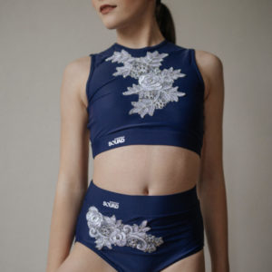DARCIE BLUE CROP & NIX + APPLIQUE By Squad Dancewear