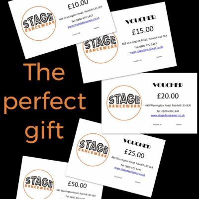stage dancewear gift vouchers