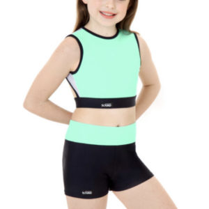 Darcie Mint Crop & Shorts Set by Squad Dancewear