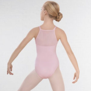 Mesh Panel Double Strap Leotard