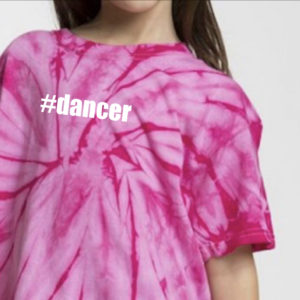 #dancer tie dye crop tee by Stage Dancewear