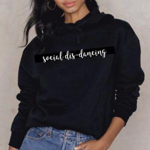 Social dis-dancing crop hoodie by Stage Dancewear