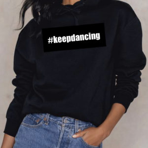 #keepdancing crop hoodie by Stage Dancewear