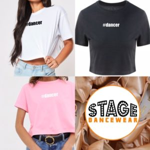 #dancer crop tee by Stage Dancewear