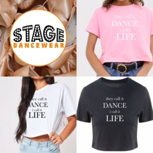 they call it dance i call it life crop tee by Stage Dancewear