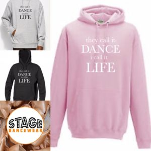 they call it dance full hoodie by Stage Dancewear