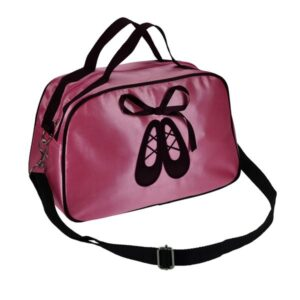 Pink Satin Bowling Dance Bag