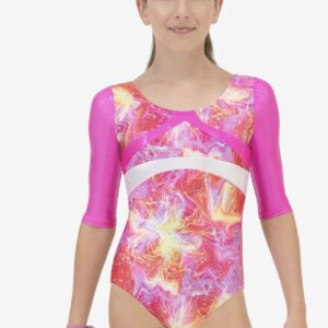 Capezio Gymnastics Arch Back 3/4 Sleeve Leotard