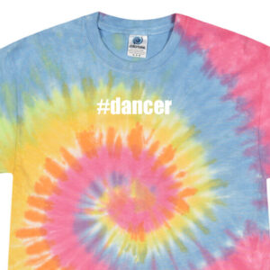 #dancer Rainbow tie dye crop tee by Stage Dancewear