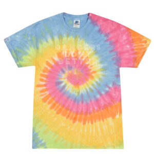 Dancers do it better Rainbow tie dye tee by Stage Dancewear