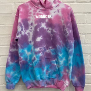 #dancer Kids Tie Dye Hoodie by Stage Dancewear