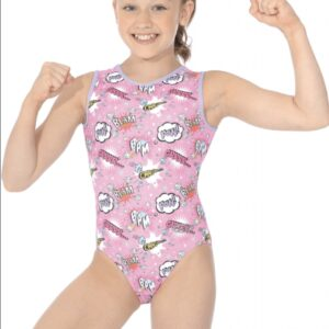 The Zone Comic Print Gymnastics Leotard