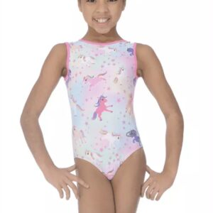 The Zone Dreams Unicorn Print Gymnastics Leotard