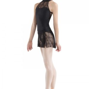Bloch  Lace Neck Halter Leotard
