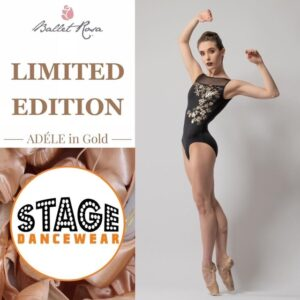 Adele in Gold Leotard Ballet Rosa Ltd Edition
