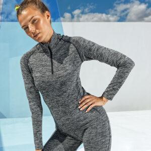 Seamless 3D fit multi sport performance zip top