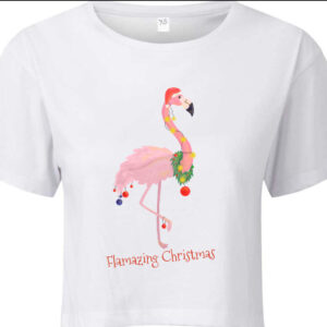 Flamazing Christmas Crop Tee by Stage Dancewear