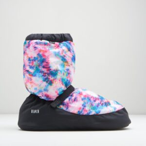 Bloch Warm Up Booties Blue Tie Dye